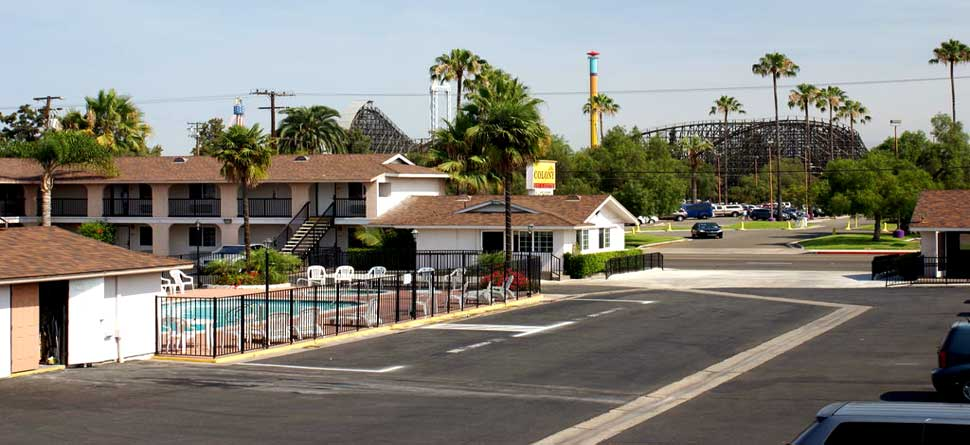 Budget Affordable Cheap Lodging Hotels Motels Colony Inn Knotts Berry Farm